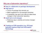 why use a subversion repository