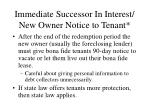 immediate successor in interest new owner notice to tenant