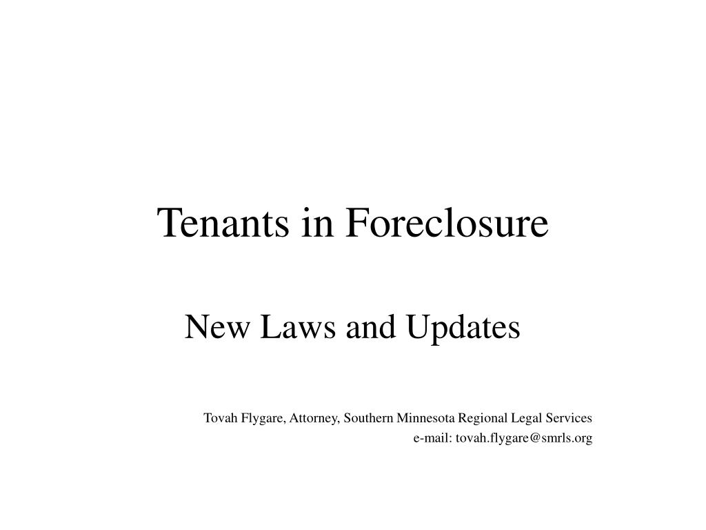 tenants in foreclosure l.