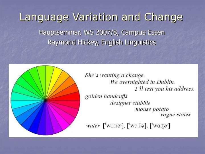 language variation and change n.
