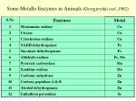 some metallo enzymes in animals georgievskii etal 1982