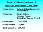 genesis of national programme 1
