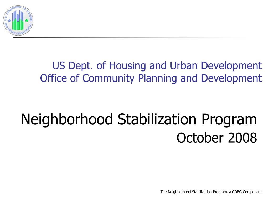 us dept of housing and urban development office of community planning and development l.