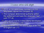 those who did sign