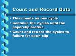 count and record data