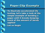 paper clip example