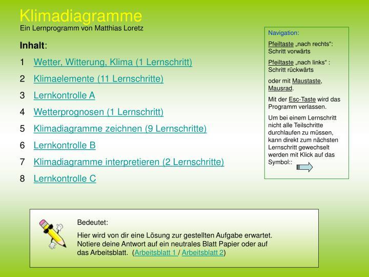 PPT - Klimadiagramme PowerPoint Presentation - ID:338114