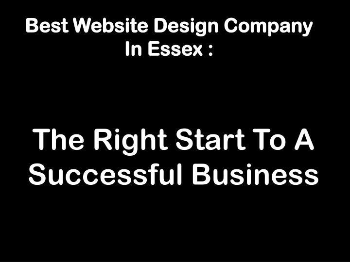 Best website design company in essex