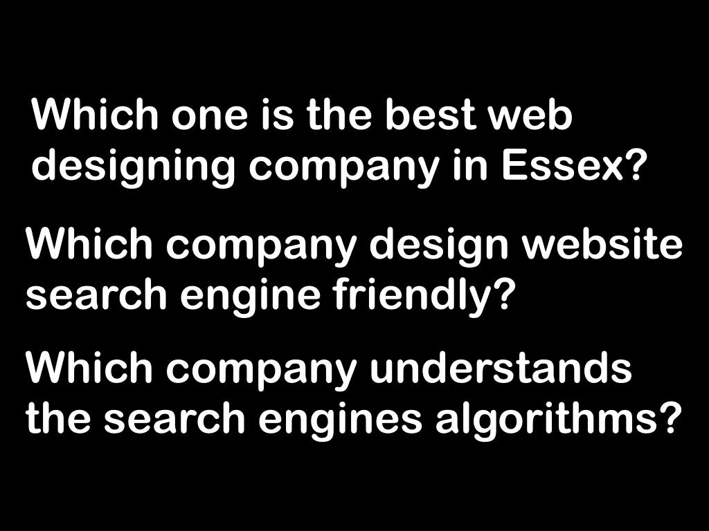 Which one is the best web designing company in Essex?