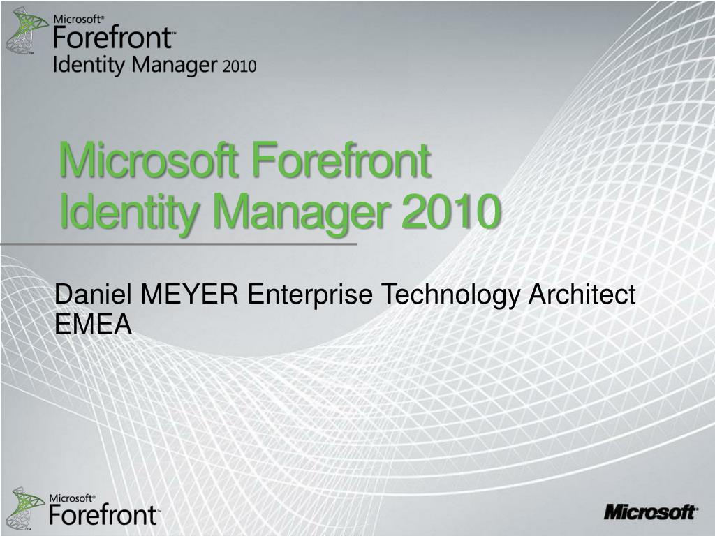 microsoft forefront identity manager 2010 l.