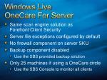 windows live onecare for server
