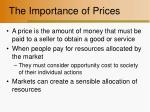the importance of prices