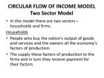 circular flow of income model two sector model