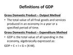 definitions of gdp