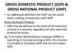 gross domestic product gdp gross national product gnp