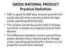 gross national product practical definition