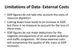limitations of data external costs