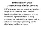 limitations of data other quality of life concerns