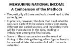 measuring national income a comparison of the methods27