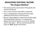 measuring national income the output method