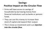 savings positive impact on the circular flow