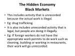 the hidden economy black markets