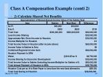 class a compensation example conti 222