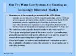 our two water law systems are creating an increasingly bifurcated market