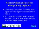 clinical observations about foreign body ingestion13