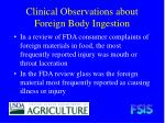 clinical observations about foreign body ingestion14