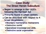 case study the street heroin subculture