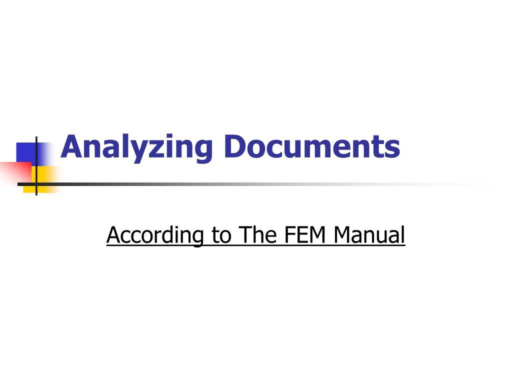 analyzing documents l.