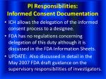 pi responsibilities informed consent documentation