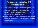 principal investigator pi responsibilities