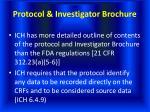 protocol investigator brochure