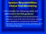sponsor responsibilities clinical trial monitoring24