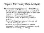 steps in microarray data analysis7