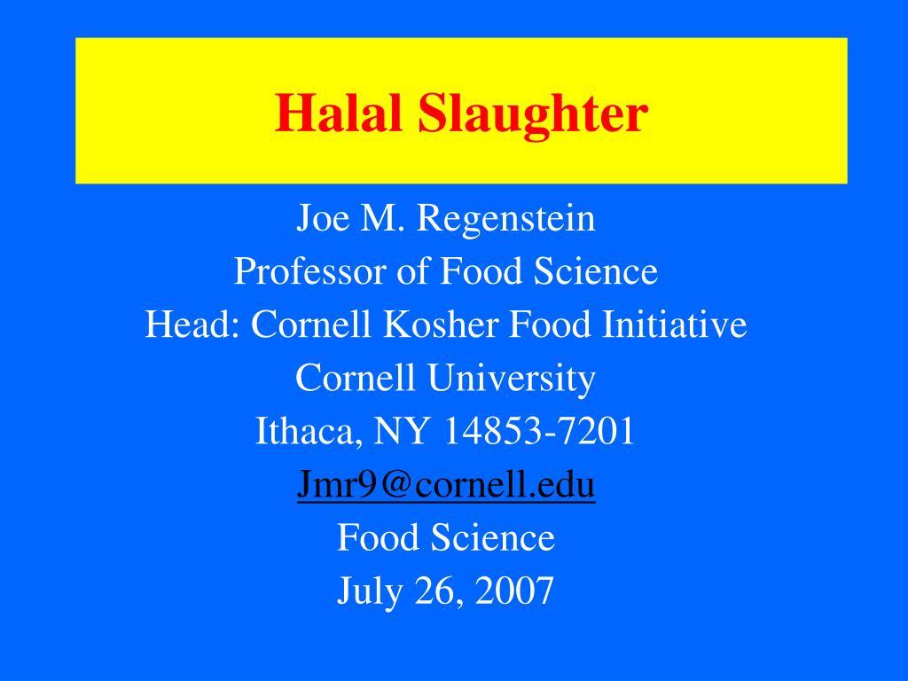 halal slaughter l.