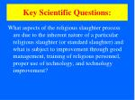 key scientific questions