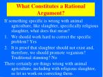 what constitutes a rational argument