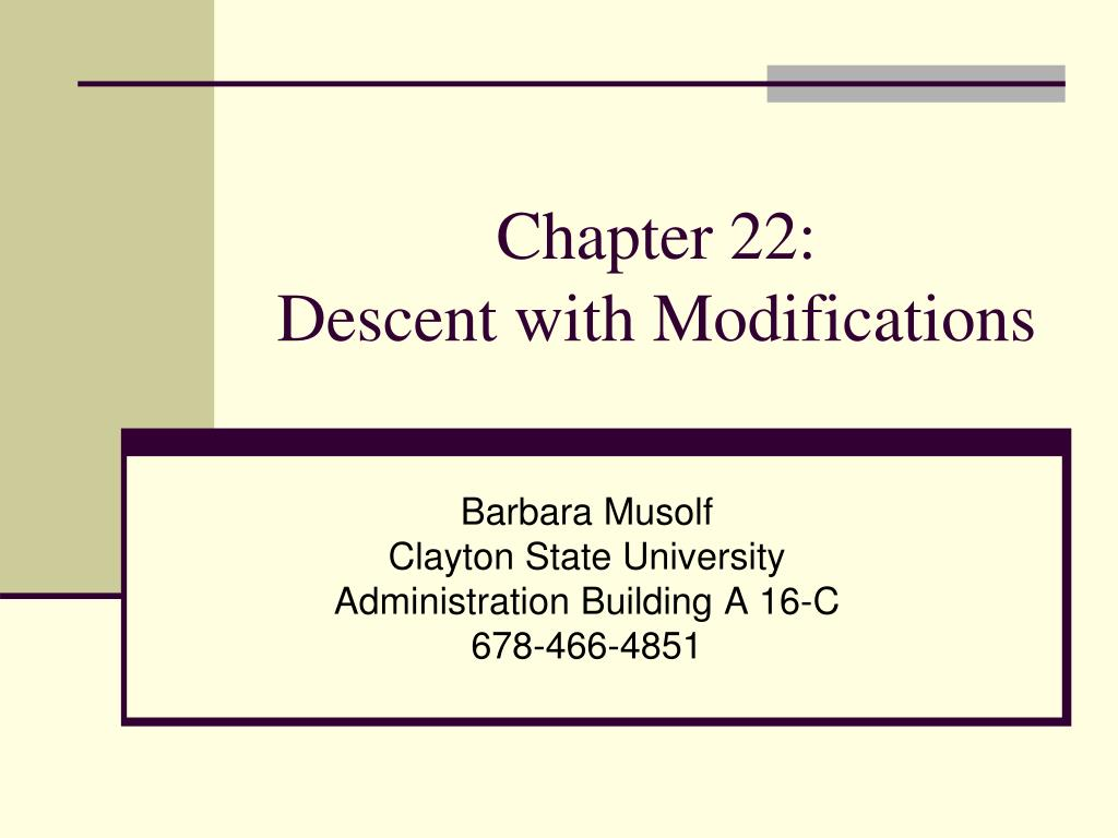 chapter 22 descent with modifications l.
