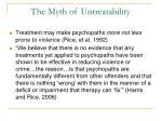 the myth of untreatability