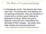 the role of counsel and judge36