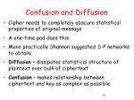 confusion and diffusion