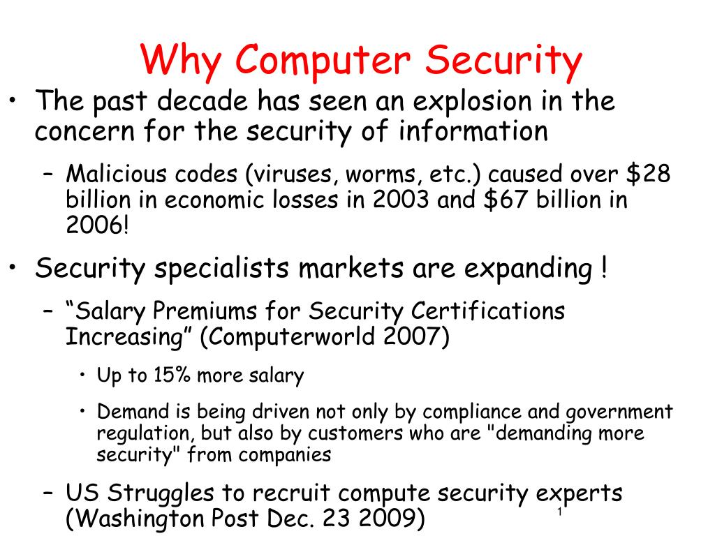why computer security l.