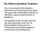 the different buddhist traditions3