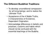 the different buddhist traditions80