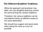 the different buddhist traditions83