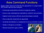 area command functions