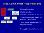 area commander responsibilities